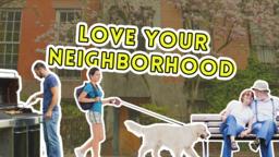 Love Your Neighborhood 16x9 PowerPoint Photoshop image