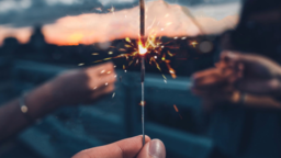 Summer Sparklers content a PowerPoint Photoshop image