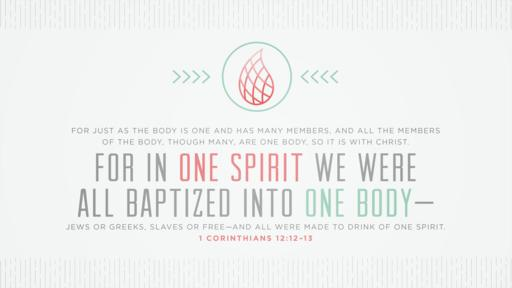 1 Corinthians 12:12–13 verse of the day image