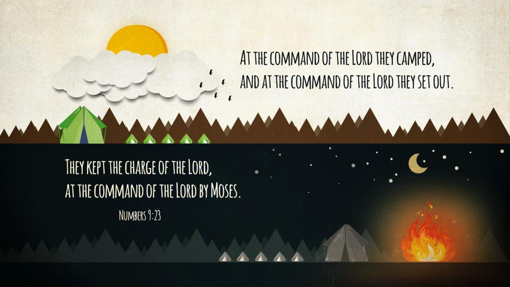 Numbers 9:23 large preview