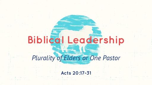 Biblical Leadership  Acts 20:17 - 31  07/8/2018