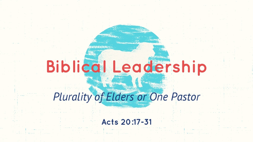 Biblical Leadership  Acts 20:17 - 31  07/8/2018