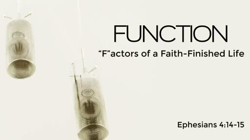 "215 - ""F""actors of a Faith-Finished Life - Function"
