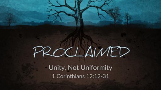 Church: Unity, not Uniformity