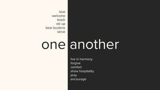 Bear One Another's Burdens