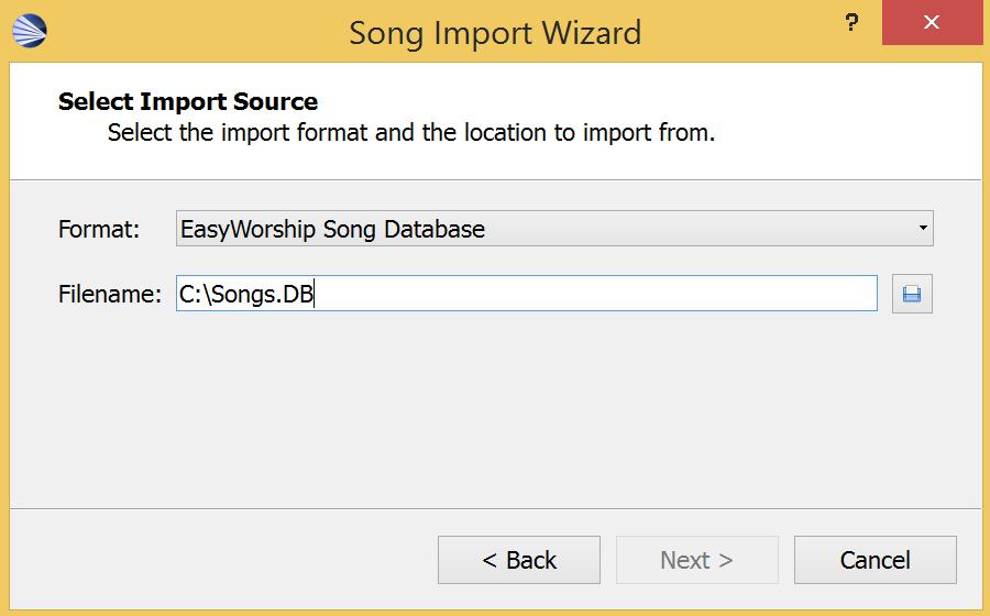 How do I export song lyrics from Easy Worship? – Faithlife