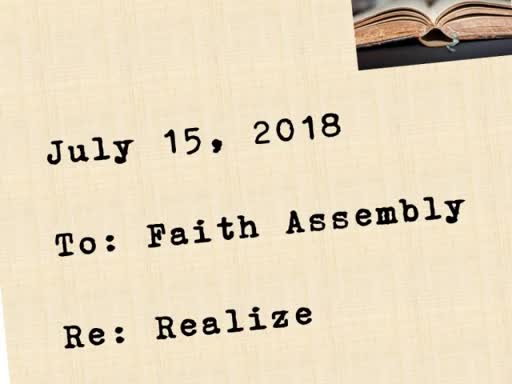 Sunday Service - July 15, 2018