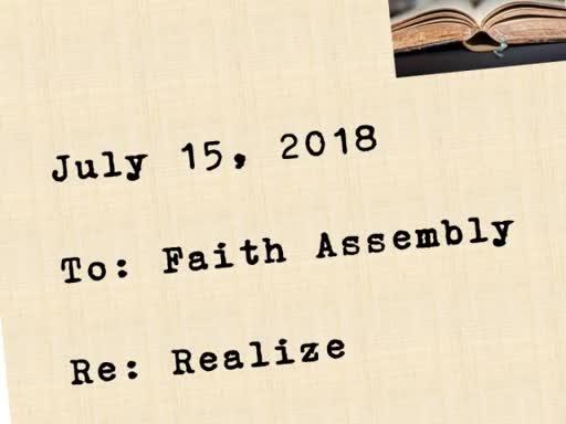 Sunday Service - July 15, 2018
