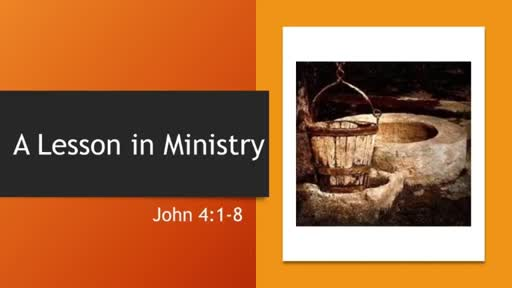 A Lesson in Ministry