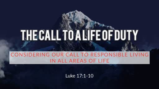 The Call to a Life of Duty