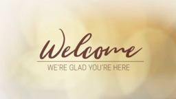 Golden Bokeh welcome 16x9 PowerPoint Photoshop image