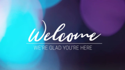 Violet Bokeh welcome 16x9 PowerPoint image