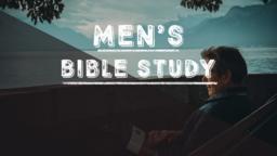 Men's Bible Study Lake announcement 16x9 PowerPoint image
