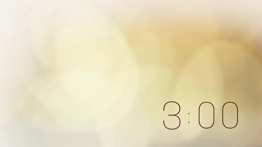 Golden Bokeh - Countdown 3 min