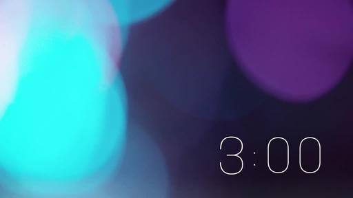 Violet Bokeh - Countdown 3 min