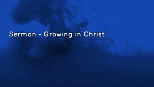 Confirmation Service - Growing in Christ
