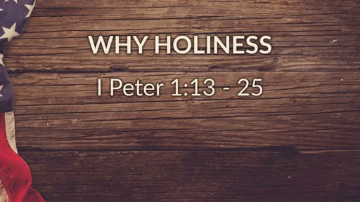 Why Holiness