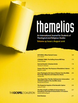 Themelios: Volume 43, No. 2, August 2018