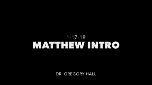 Introduction to the Gospel of Matthew