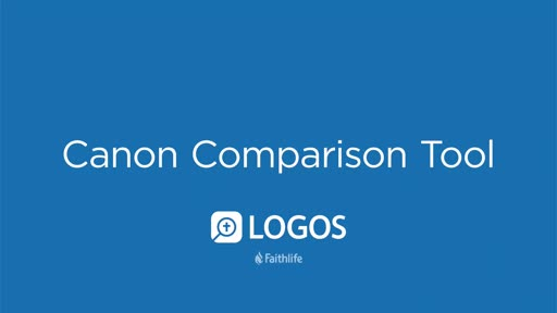 Canon Comparison Tool