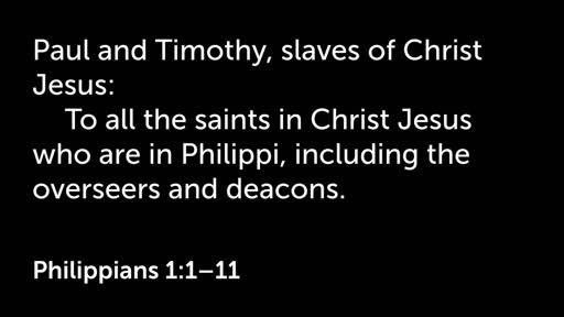 29 July PM - Philippians 1:1-11