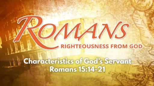 Characteristics of God's Servant