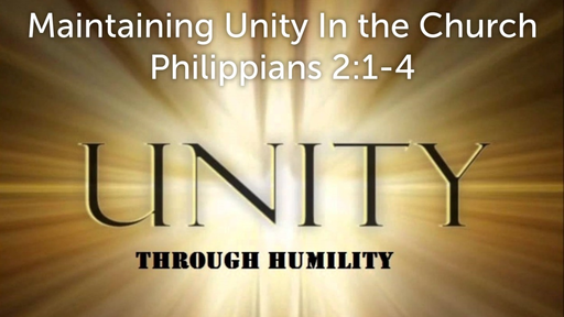 July 29, 2018 -Maintaining Unity In the Church