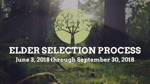 07/29/18 - Elder Selection