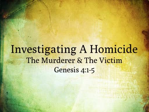 The Murderer & The Victim