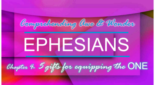 Ephesian 4- 5 Gifts for Equipping The One 7-22-18 Sunday AM