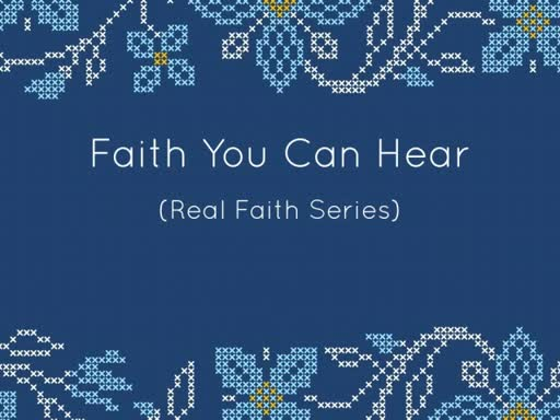 FAITH YOU CAN HEAR