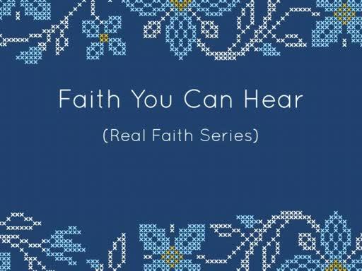 FAITH YOU CAN HEAR