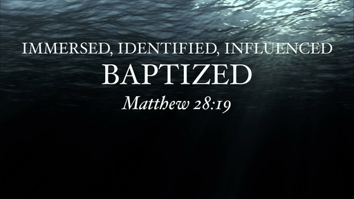 Immersed, Identified, Influenced: Baptized/ John The Baptist