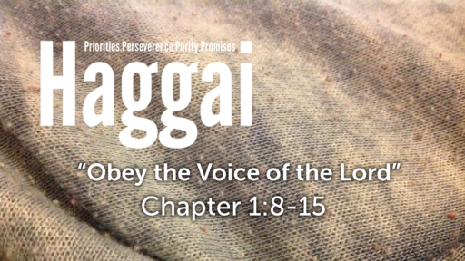 "Haggai 1:8-15 ""Obey the Voice of the Lord"""