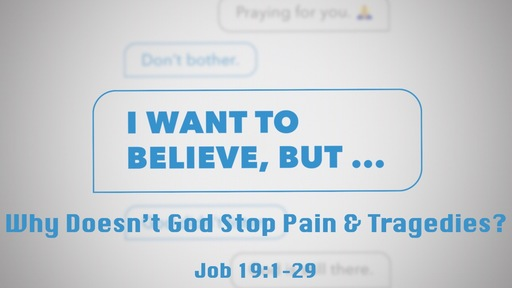 Why Doesn't God Stop Pain and Tragedy?