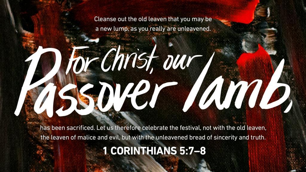 1 Corinthians 5:7–8 large preview