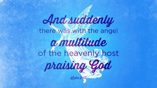 Luke 2:13 verse of the day image