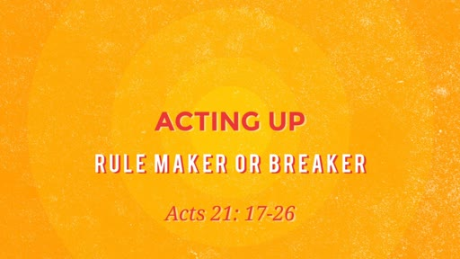 Rule Maker or Breaker - GS 08-12-2018