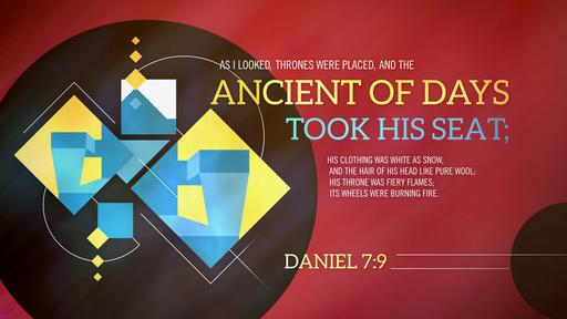 Daniel 7:9 verse of the day image