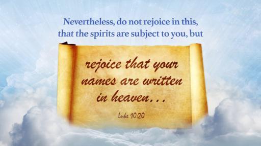 Luke 10:20