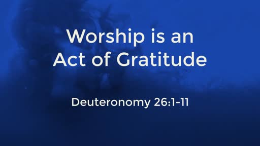 Worship is an Act of Gratitude