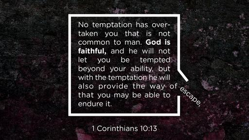 1 Corinthians 10:13 verse of the day image