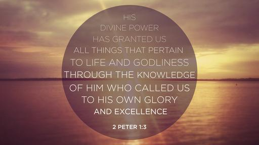 2 Peter 1:3 verse of the day image