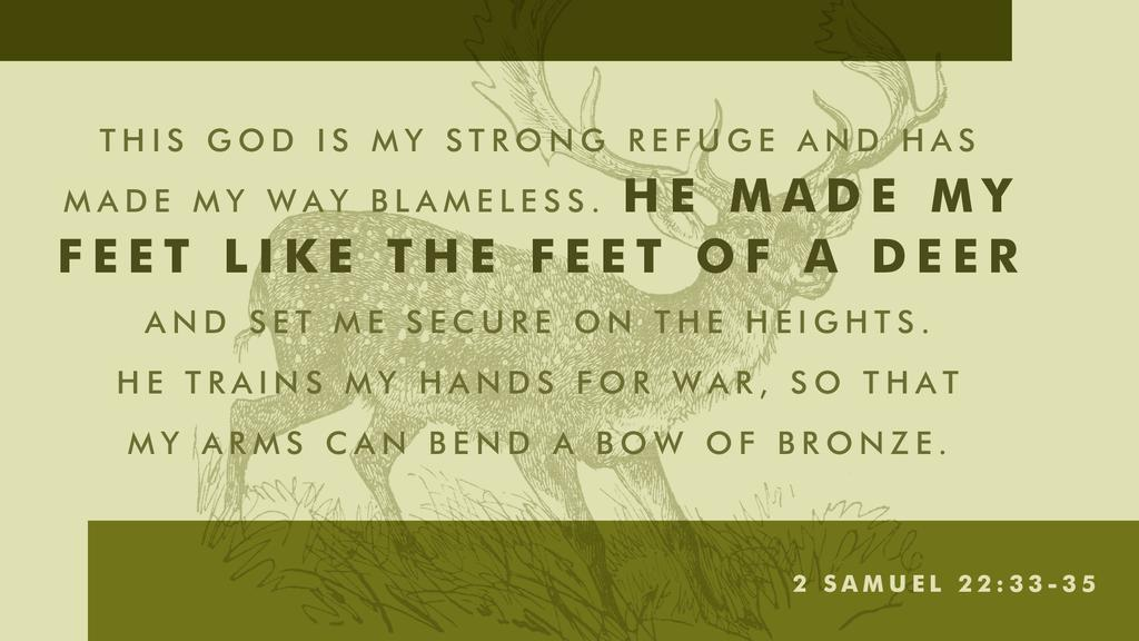 2 Samuel 22:33–35 large preview