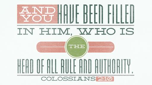 Colossians 2:10 verse of the day image