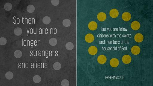 Ephesians 2:19 verse of the day image