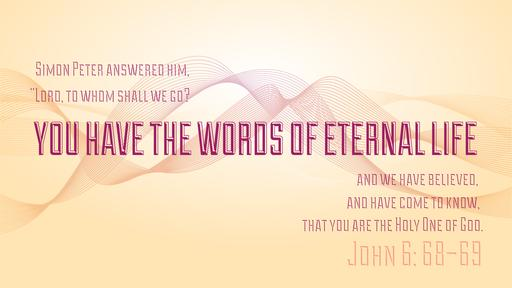 John 6:68–69 verse of the day image