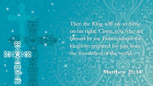 Matthew 25:34 verse of the day image