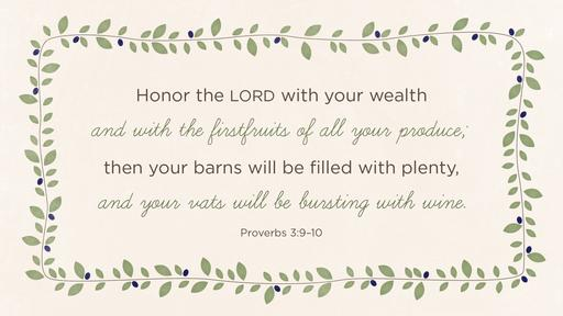 Proverbs 3:9–10 verse of the day image
