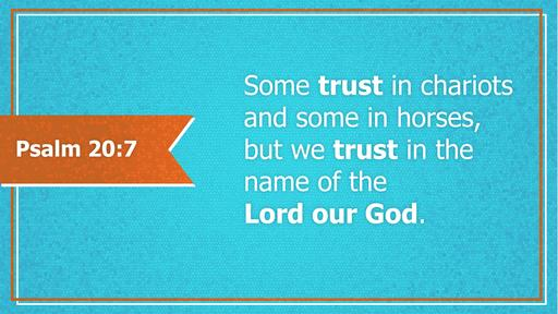 Psalm 20:7 verse of the day image